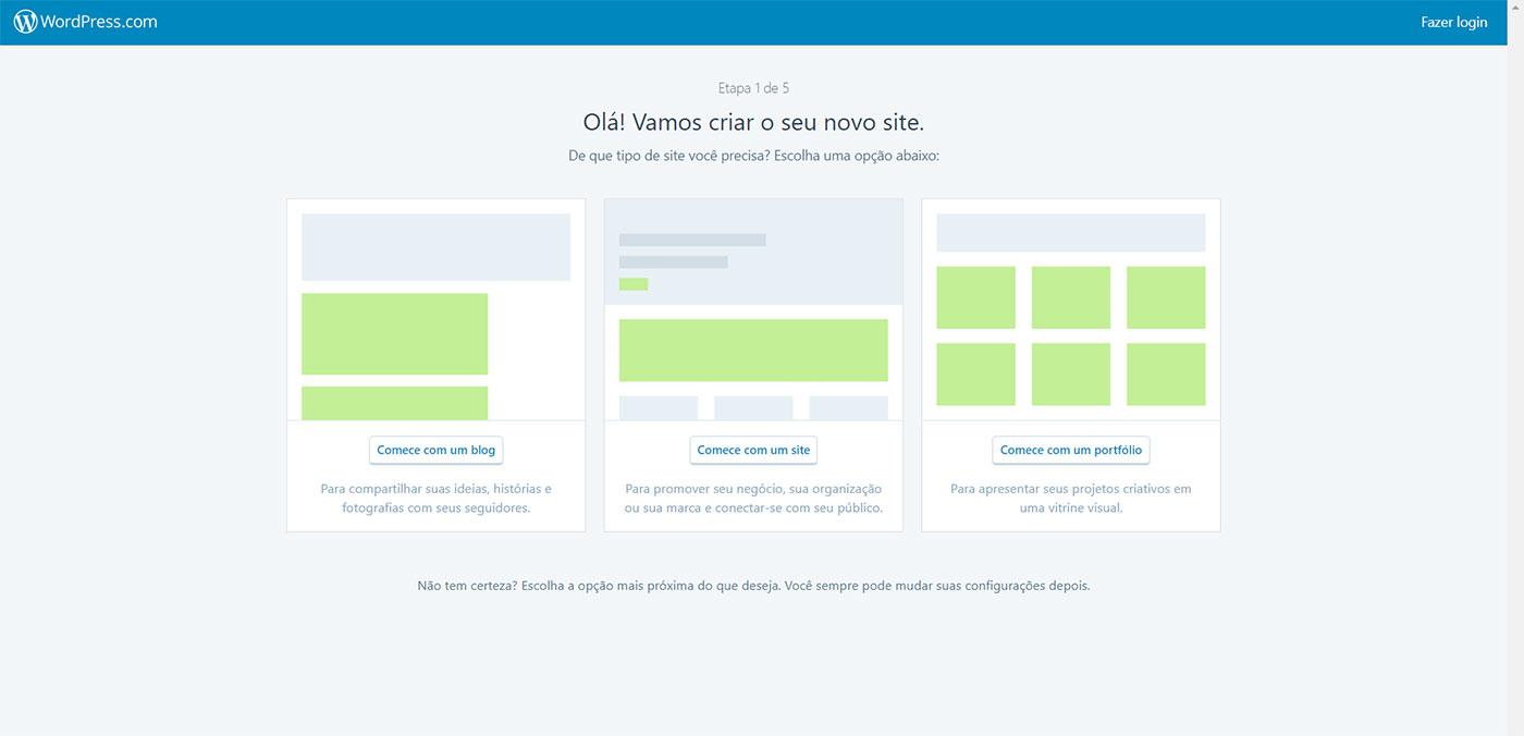 tela de cadastro no WordPress