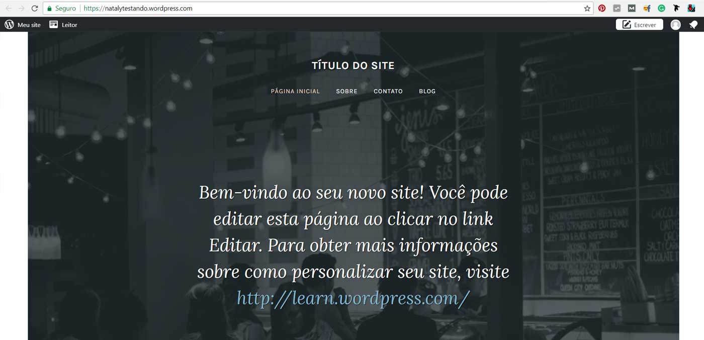 blog no wordpress publicado